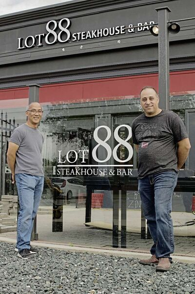 Wayne Dang (left) and George Khalaf are two of the restaurateurs behind Lot 88 Steakhouse and Bar at 2005 Pembina Highway, in the former home of Barley Bros. The new restaurant opened on Sept. 17.
