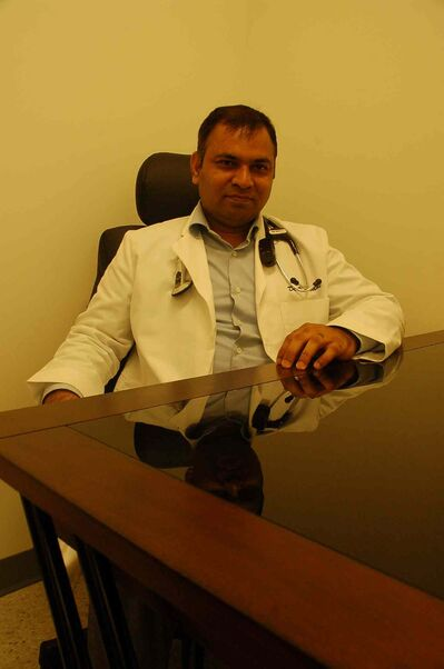 Dr. Vijay Sodhi is shown at the Harbourview Medical Centre.