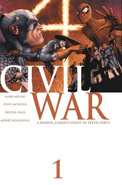 Marvel Entertainment</p><p>This image provided by Marvel Entertainment shows the cover of the first issue of Civil War.</p>