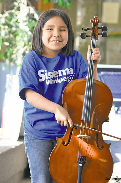 Natasha is one of the happy participants in the Sistema Winnipeg program, offered by the WSO, with Seven Oaks and Winnipeg School Divisions.