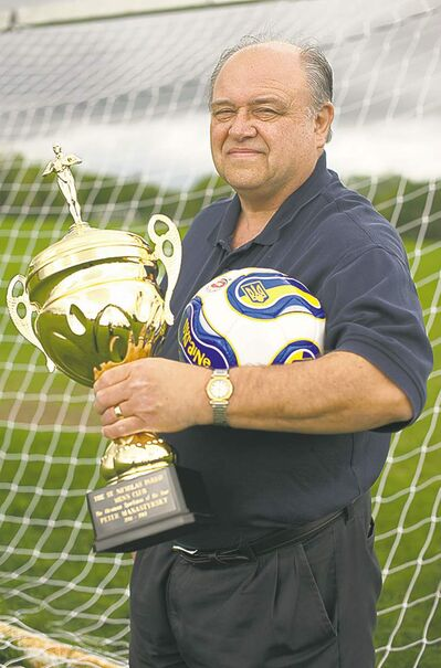 Peter Manastyrsky is the driving force for soccer in the city's Ukrainian community. He was recently awarded the St. Nicholas Parish Men's Club award for Ukranian Sportsman of the Year.
