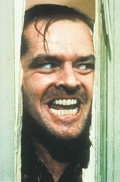 Warner Bros. Inc.  Jack Nicholson portrays Jack Torrance in a scene from the movie The Shining.
