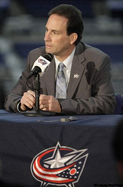 Scott Arniel is introduced as the Blue Jackets head coach in Columbus.