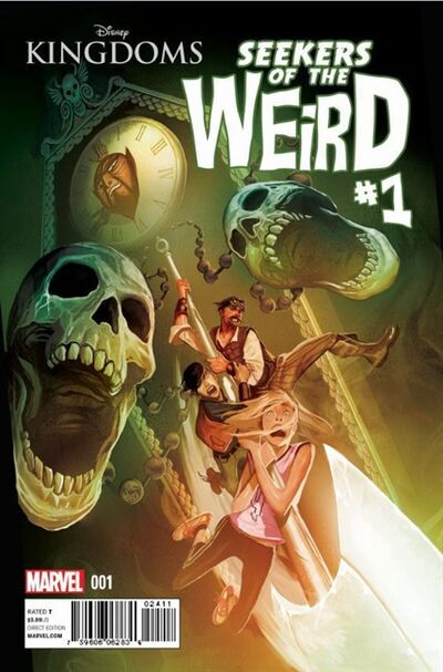 "This comic book image released by Marvel shows the first issue of Disney Kingdoms ""Seekers of the Weird."" Marvel Comics and Disney will publish a comic book inspired by Disneyland's fabled but never built Museum of the Weird as the first title under its ""Disney Kingdoms"" banner. The five-issue mini-series titled ""Seekers of the Weird"" will go on sale in January and is written by Brandon Seifert and illustrated by Karl Moline. (AP Photo/Marvel)"