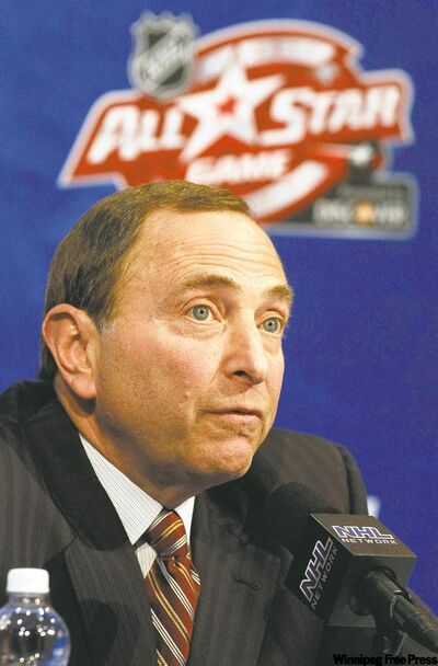 NHL commish Gary Bettman refuses to put a deadline on the Coyotes sale.