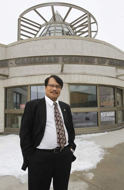 Lito Taruc at the Philippine-Canadian Centre.