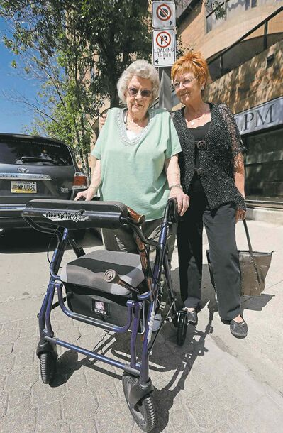Peggy Lindsay and her daughter, Linda Lindsay, oppose the city plan.