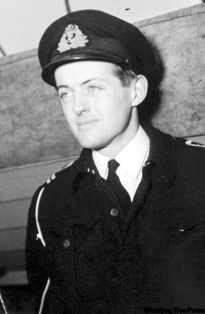 Canadian Currie McMillan served on HMCS Cowichan, a minesweeper, during the Second World War.