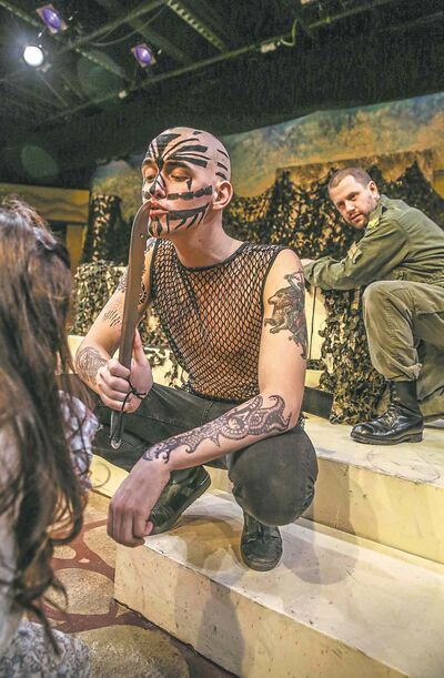 Actor Nick Petuhoff channels his inner goth in the Black Hole Theatre's production of Titus Andronicus.