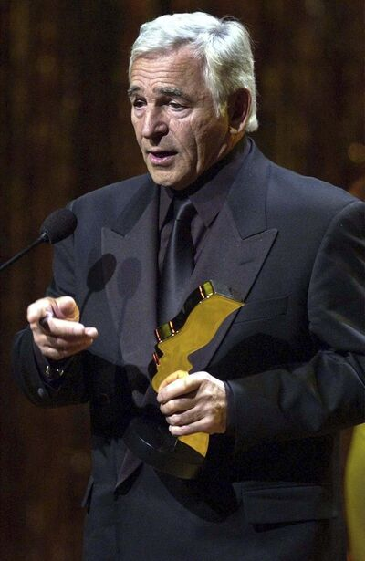 AARON HARRIS / THE CANADIAN PRESS FILES</p><p>Rhodes accepts his 2002 best actor Gemini Award for his work in Da Vinci&#39;s Inquest.</p>