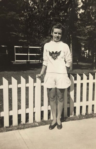Supplied</p><p>Early on in her life, Russell fell in love with sports after joining her high school's track and field team.</p>
