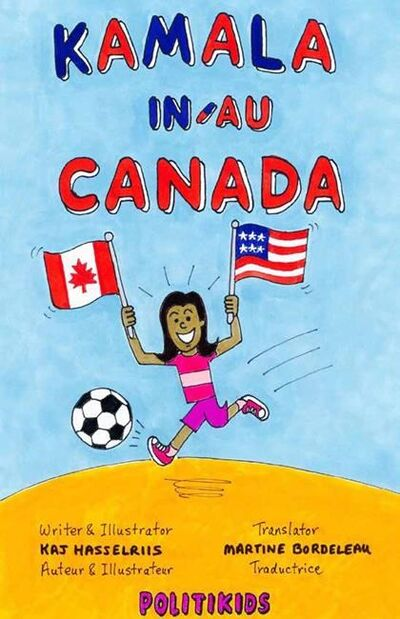 The cover of Kaj Hasselriis comic Kamala in Canada is shown in this handout image. A Winnipeg cartoonist says he is honoured to play a small role in a historic moment after his book about Kamala Harris was included in Canadian celebrations for the American presidential inauguration. THE CANADIAN PRESS/HO