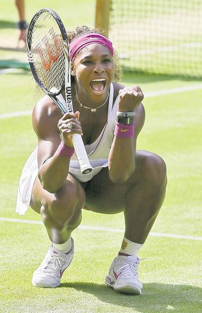 Alastair Grant / the associated pressSerena Williams served 24 aces at speeds reaching 120 m.p.h. Thursday.