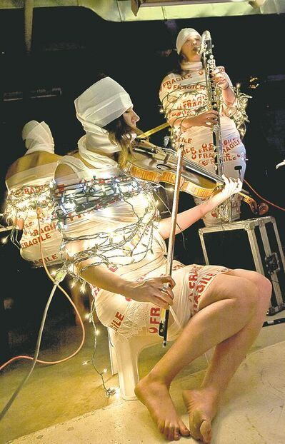 SUPPLIED PHOTOTrio �86 (shown in 2011) performs again this year at Cluster New Music and Integrated Arts Festival.