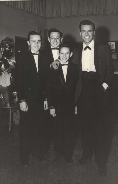 COURTESY RON STEINER</p><p>The brothers with actor Robert Wagner.</p>