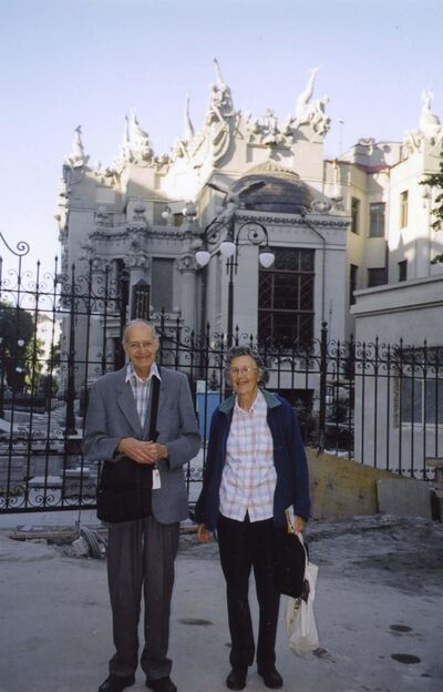 Ihor Mayba and Helen in Kiev in 2005. (Supplied)