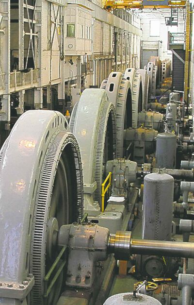 The original Pointe du Bois generators hit their limit in 1926. Now, it is a rare day that all of them are working at the same time.