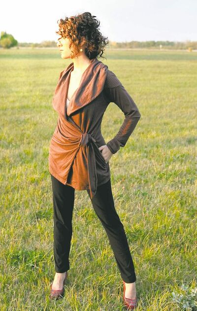 Clothing from Voila, by  Andreanne, an eco-friendly local line.