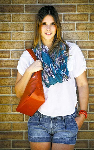 Scarves by Daisy add some colour but don't cheapen a chic August look.