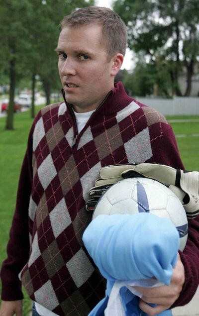A soccer player has been acquitted of assault causing bodily harm after goalie Scott Keast (pictured) was hurt in a 2009 game.