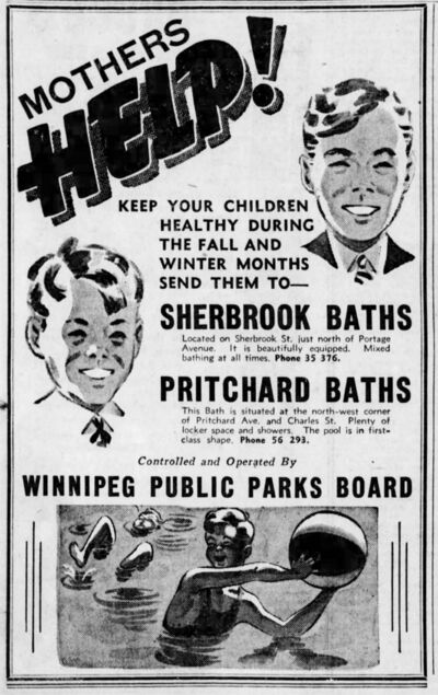 An advertisement published in the Winnipeg Tribune Oct. 30, 1937.</p>