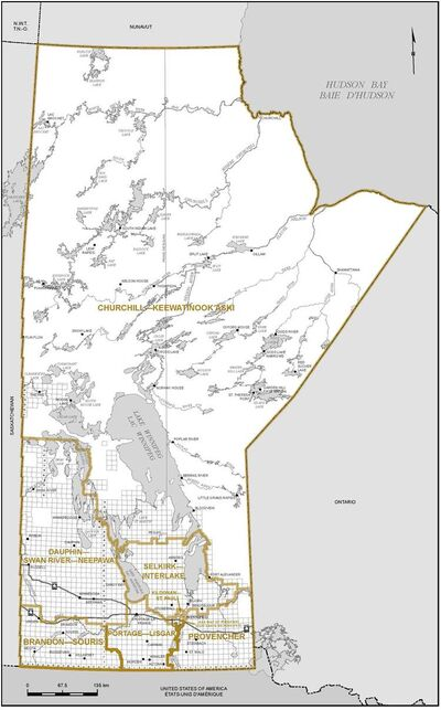 Proposed boundaries for Manitoba