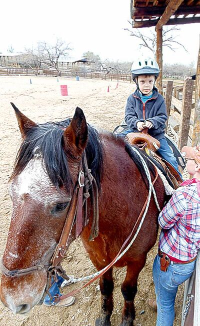 Buckaroo Bennett saddled up and ready to ride at Tanque Verde Ranch.