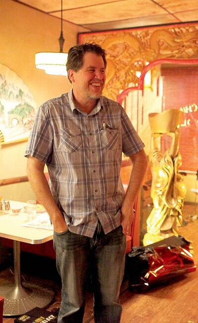 Director Don Coscarelli on the set of John Dies at the End.