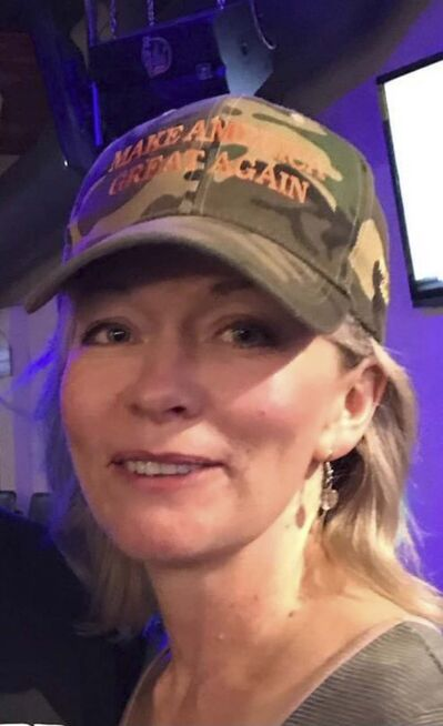 TWITTER Photo circulating on social media of Conservative MP Candice Bergen wearing a MAGA (Make America Great Again) hat. - date/origin unknown</p>