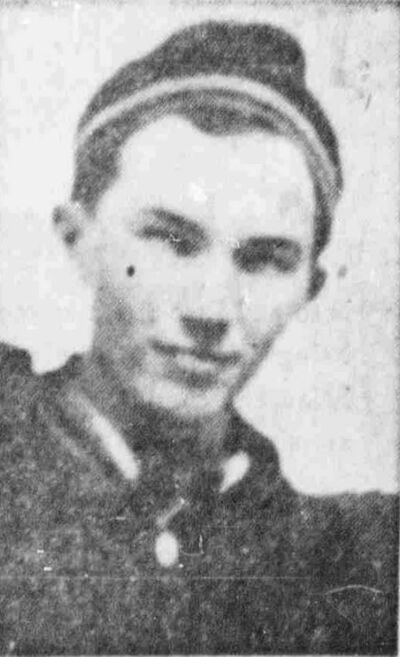 WINNIPEG TRIBUNE FILES</p><p>Dominion Bridge worker Ronald Erickson, 19, of Tyndall.</p>