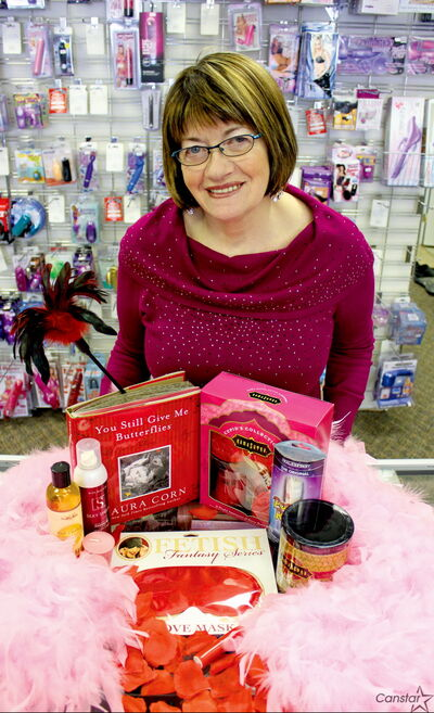Linda Proulx, who founded the Love Nest 25 years ago, recommends a selection of massage oils, bubble baths, and books as a gift package this Valentine's Day.