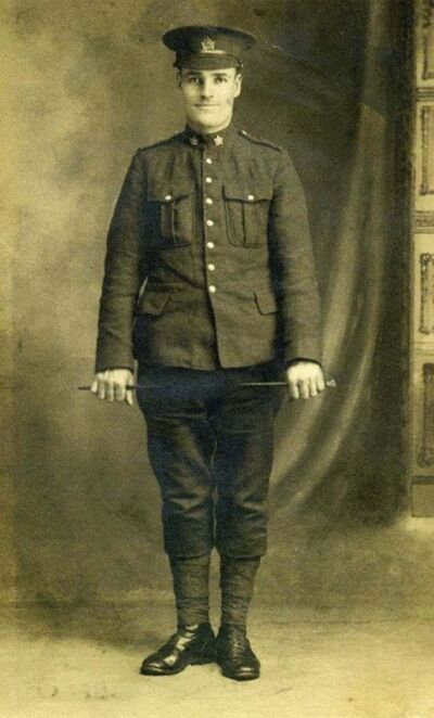 SUPPLIED PHOTO</p><p>Art Wilding in military uniform.</p>