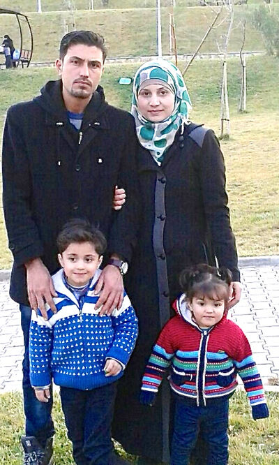 Chaeban's cousins, Mohammad Oglan, wife Kamar and children Amro, 4, and Eilene, 18 months, are Syrian refugees living temporarily in Turkey. Mohammad is a mechanical engineer and a cheesemaker.