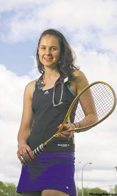 Alana Miller excelled at all three racquet sports for many years.