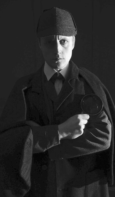 Sherlock Holmes as he is often portrayed onscreen.