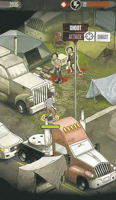The Walking Dead Social Game lets you blast zombies just like on the AMC drama.