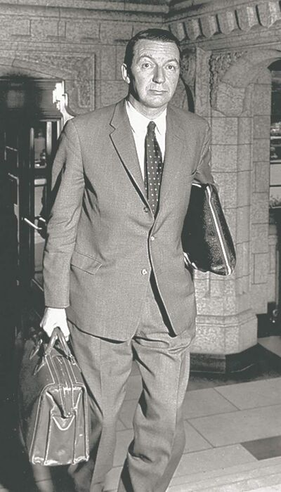THE CANADIAN PRESS archivesJames Coyne in Parliament in 1961.