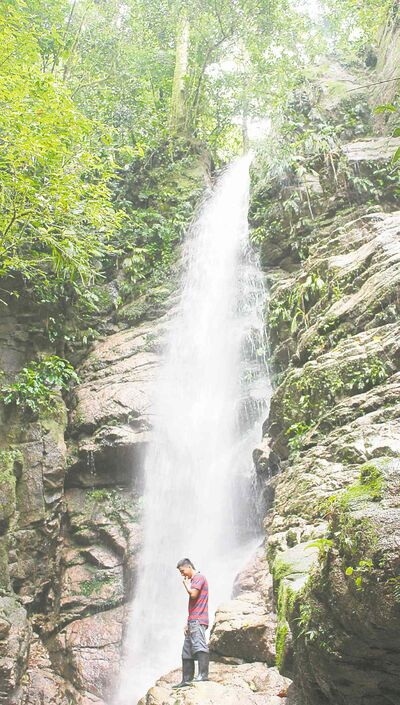 One of the Pimpilalo waterfalls.