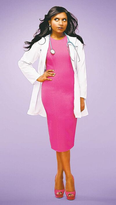 Mindy Kaling plays an OB/GYN on The Mindy Project.