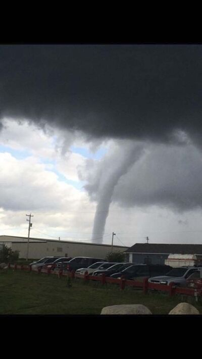 SUPPLIED PHOTO</p><p>A picture of the tornado taken at Sapotaweyak Cree Nation Wednesday.</p>