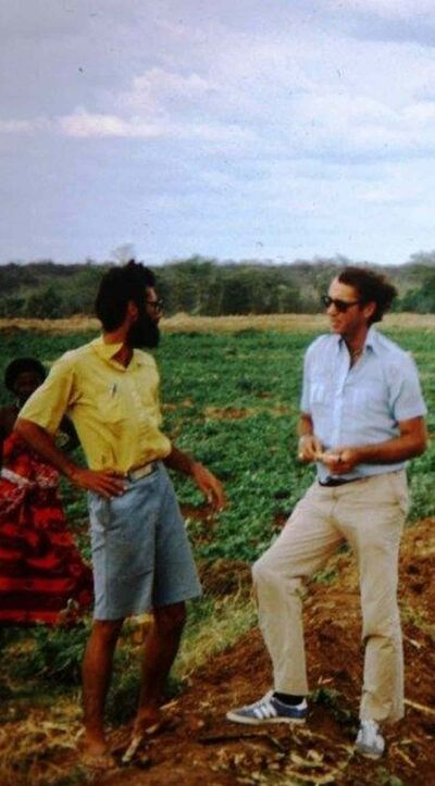 DeFehr visiting an irrigation settlement project in Somalia.