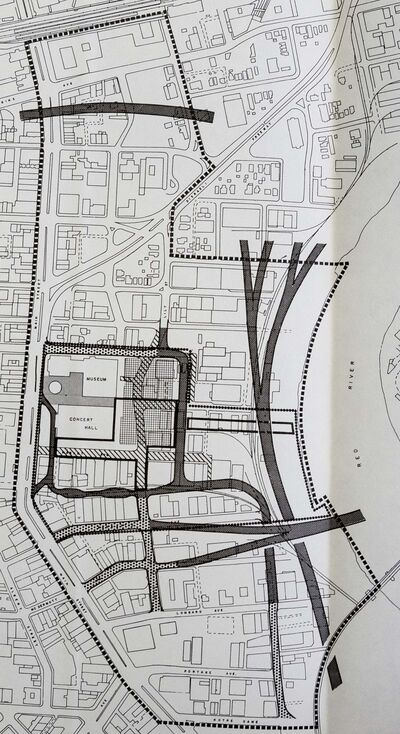 CITY OF WINNIPEG ARCHIVES</p><p>The scheme called for expressways in the waterfront area.</p>