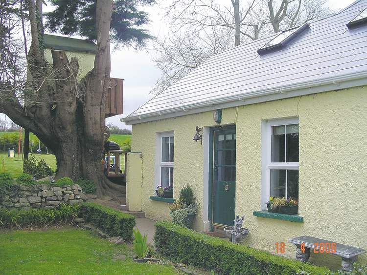 The 100-year-old cottage in Ireland after extensive renovations.