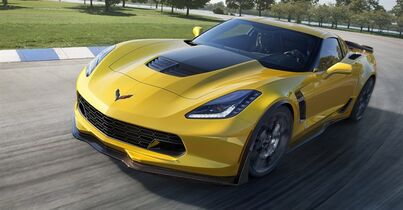 This undated image provided by General Motors shows the 2015 Chevrolet Corvette Z06. General Motors says the new high-performance Corvette can hit 60 mph in 2.95 seconds, finish a quarter-mile in just under 11 seconds, and reach 127 mph in one-quarter mile, making it the fastest car GM has ever made. (AP Photo/General Motors)