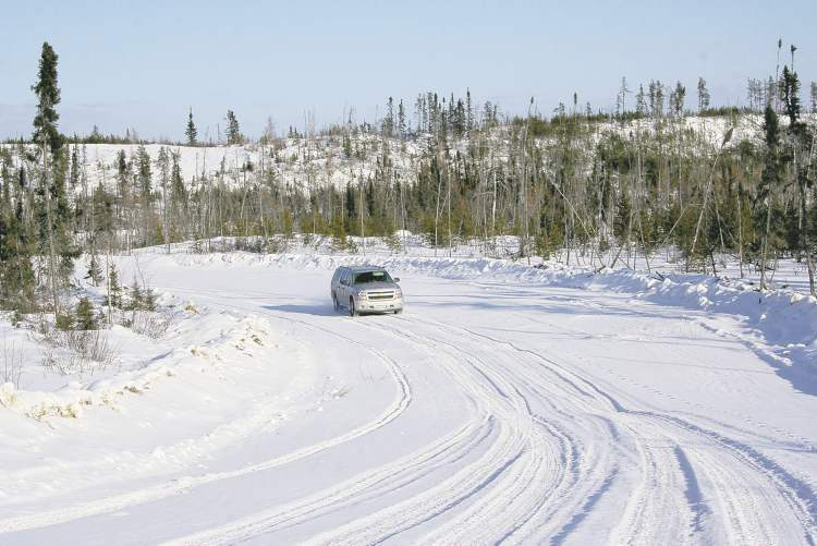 The 2012 Chevrolet Suburban Jay McLeod rented for the journey was up for the winding winter road. The entire trip down the road was akin to a winter roller-coaster.
