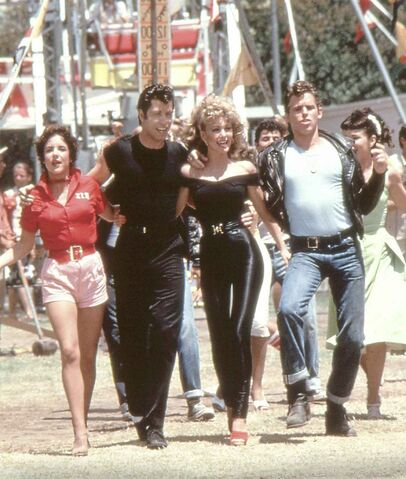 Stockard Channing (left), John Travolta, Olivia Newton-John and Jeff Conaway went together like rama lama lama ka dinga da dinga dong (TNS Handout)