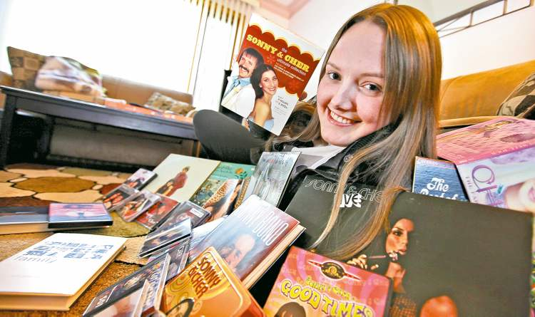 Alison Calthorpe, 17, is new to collecting Cher-related stuff, but she's as devoted as a  longtime fan.