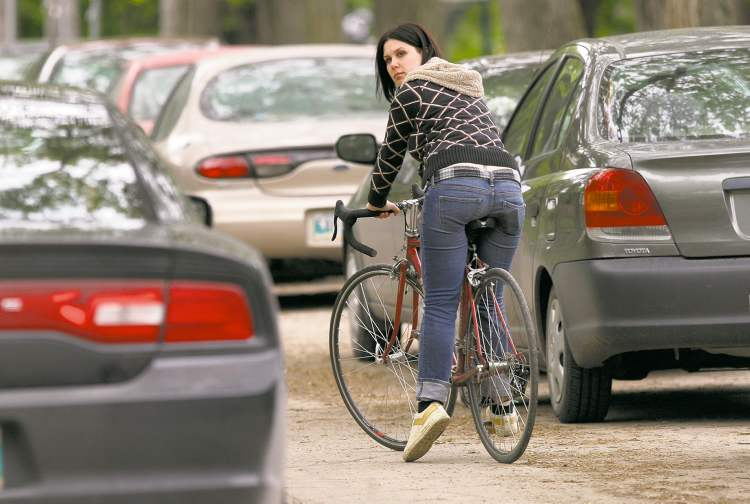 Amanda San Filippo has faced situations while biking that nearly degenerated into fisticuffs.