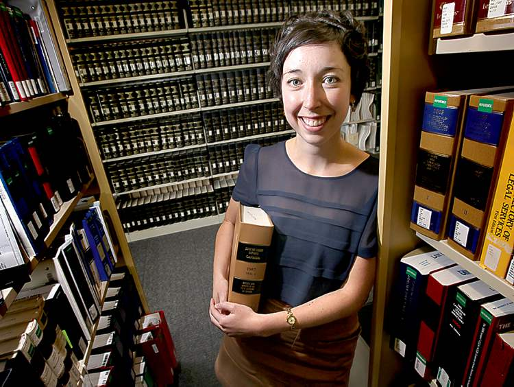 ABOVE: U of M law graduate Dayna Steinfeld is primed for her coveted Supreme Court job.
