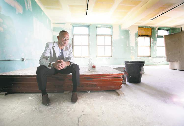 Pan Am Boxing president Harry Black at the soon-to-be-completed home for at-risk young men.